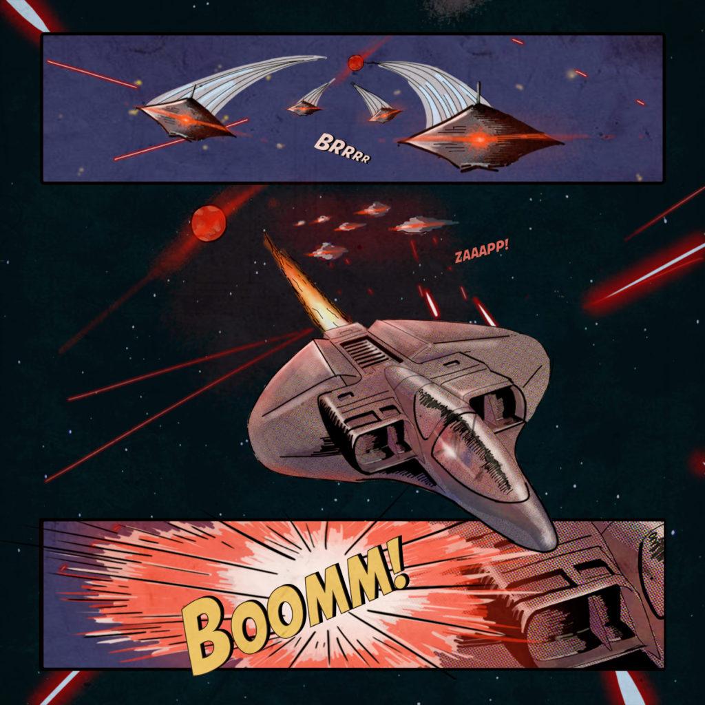 爆破する船